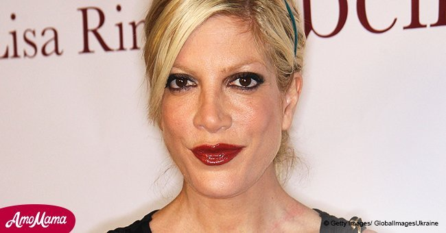 Tori Spelling is accused of shading her stepson, 19, after excluding him in a recent family snap