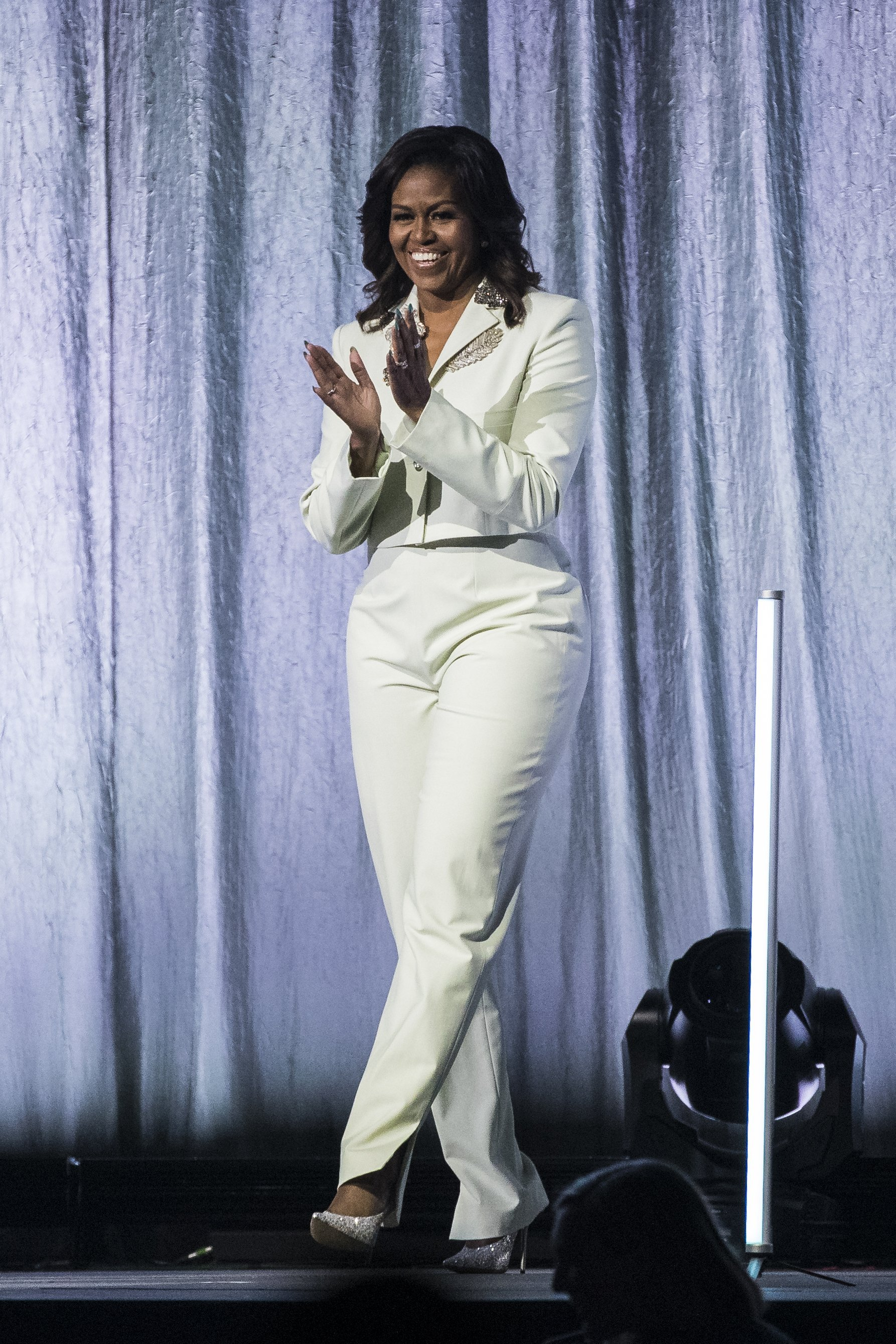 Michelle Obama during her 'Becoming: An Intimate Conversation with Michelle Obama' Tour in Stockholm, Sweden. April 10, 2019. | Photo: GettyImages