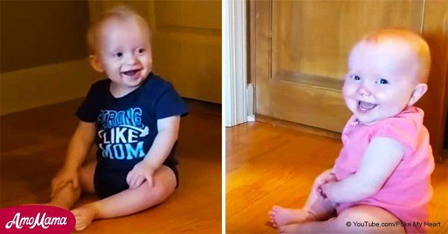 Le fou rire de ces jumeaux a contaminé leur père