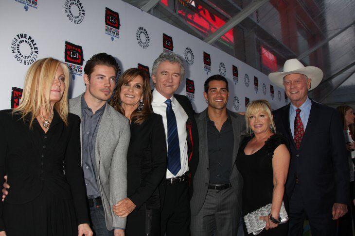 """The """"Dallas"""" cast at the 2012 TCM Classic Film Festival Opening Night Gala. 