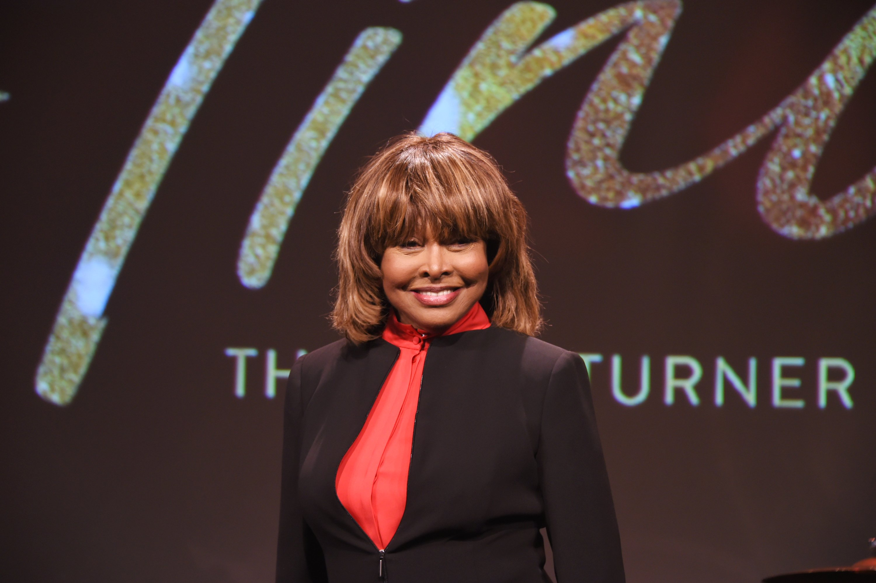 "Tina Turner poses at a photocall for ""Tina: The Tina Turner Musical"" at The Hospital Club on October 17, 2017 