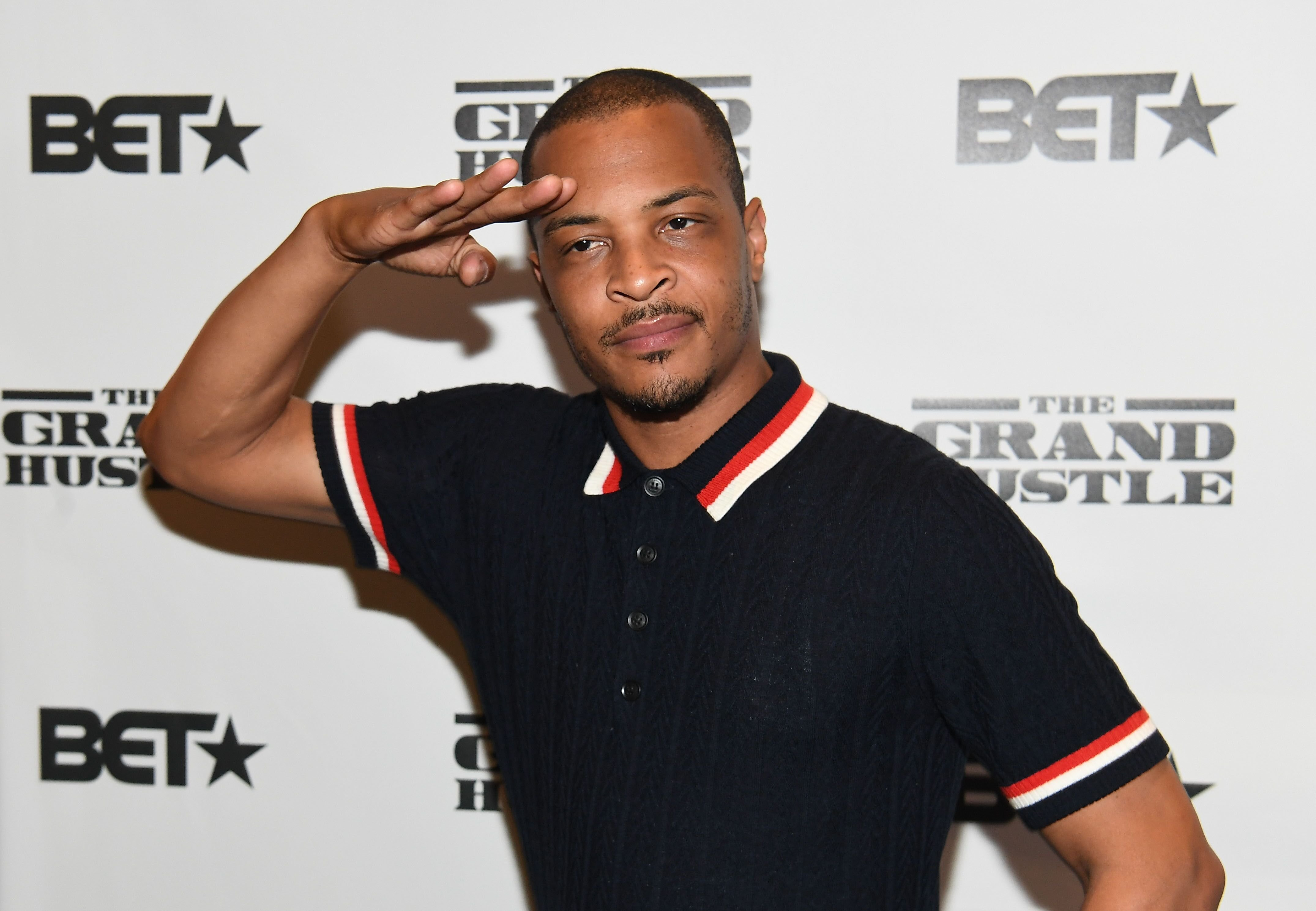 """Rapper Tip """"T.I."""" Harris at a BET event for """"The Grand Hussle""""/ Source: Getty Images"""