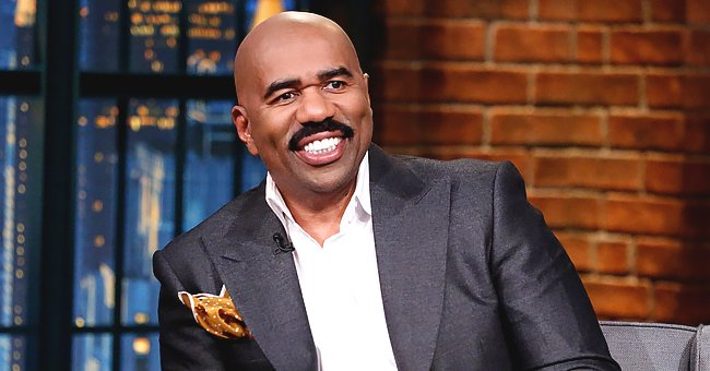 Steve Harvey's Son-In-Law Poses with Newborn Daughter Marley in These Heartwarming Photos