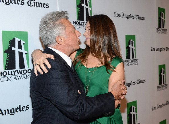 Dustin Hoffman and Lisa Gottsegen arrive at the 16th Annual Hollywood Film Awards Gala presented by The Los Angeles Times held at The Beverly Hilton Hotel on October 22, 2012, in Beverly Hills, California. | Source: Getty Images.