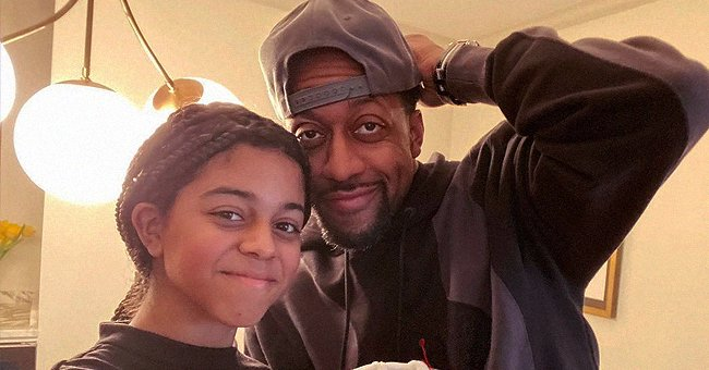 Jaleel White & His Teen Daughter Samaya Have Fun on Easter Jumping into a Pool in Cool Snaps