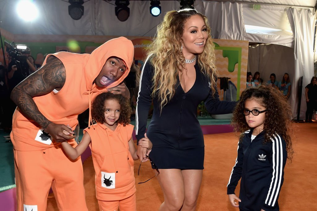 Nick Cannon, Moroccan Scott Cannon, singer Mariah CArey and Monroe Cannon at Nickelodeon's 2017 Kids' Choice Awards at USC Galen Center in Los Angeles, California | Photo: Getty Images