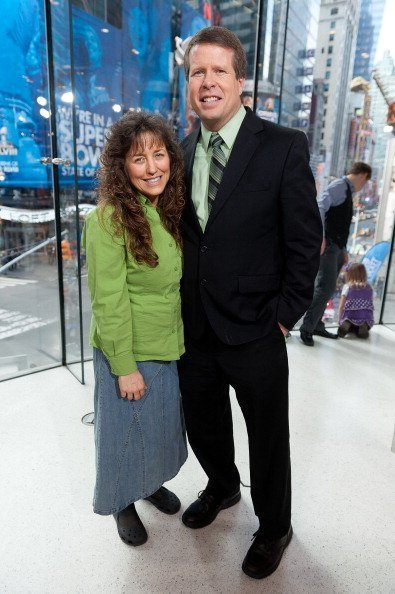 "Jim Bob Duggar and wife Michelle Duggar visit ""Extra"" at their New York studios on March 11, 2014 