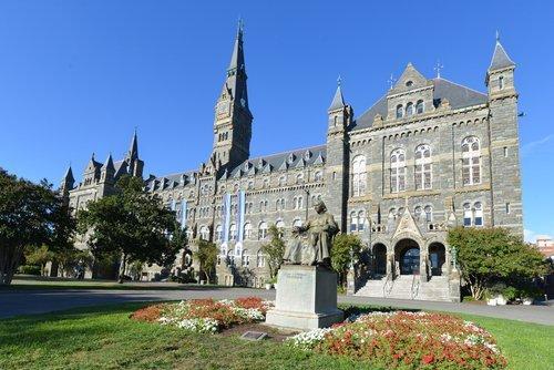 Georgetown University main building in Washington DC. | Source: Shutterstock.