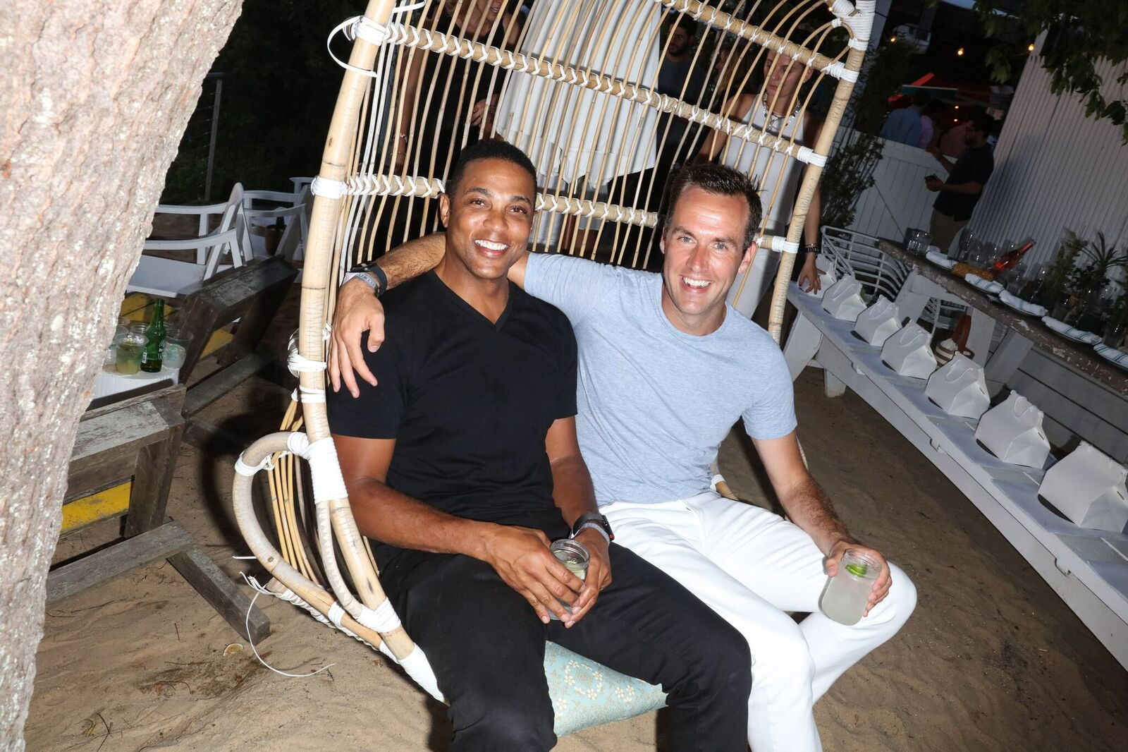 Recently engaged couple Don Lemon (L) and Tim Malone attend a celebration of Costa Brazil and performance by John Legend at the Surf Lodge on July 14, 2019 | Photo: Getty Images