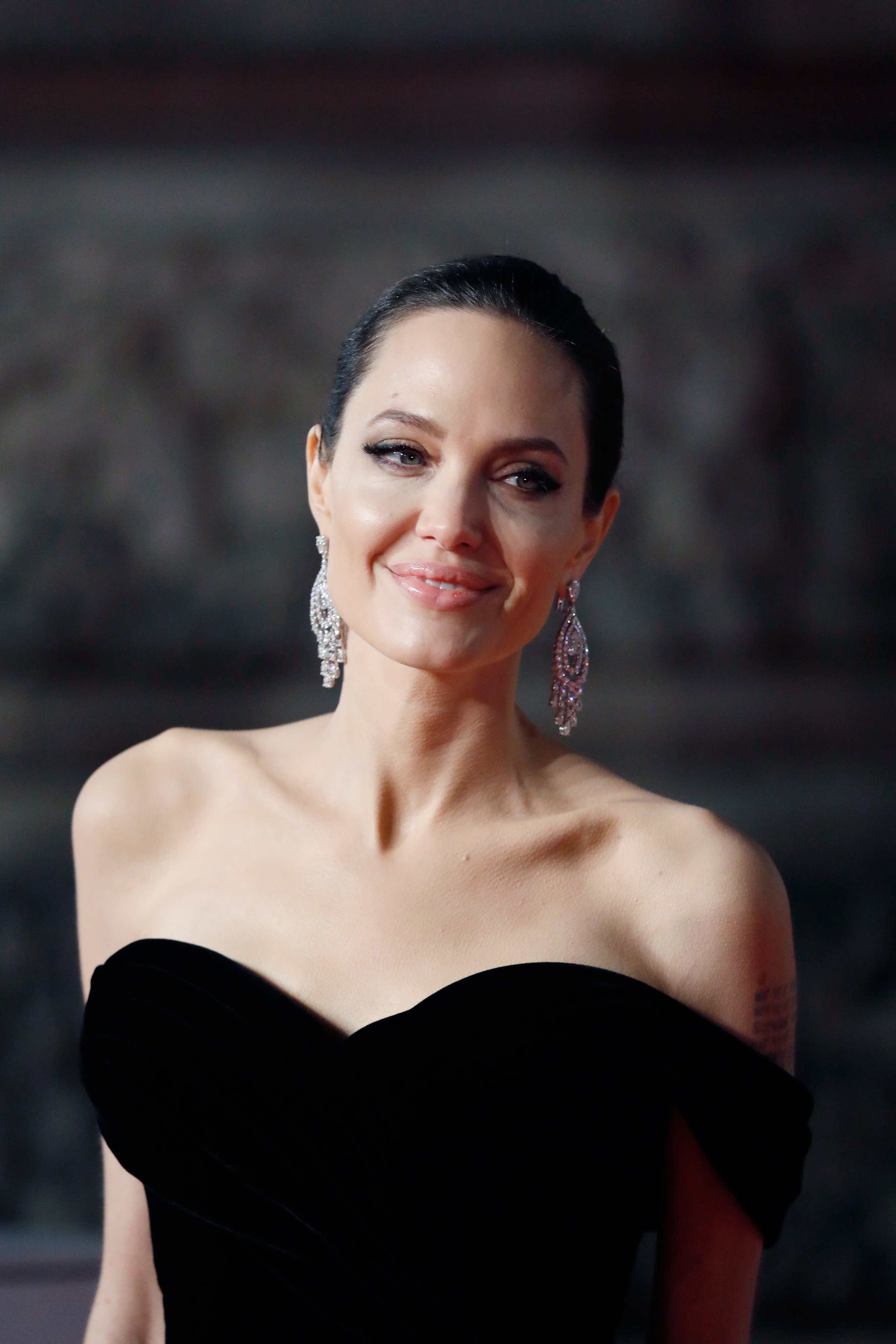 Angelina Jolie attends the EE British Academy Film Awards (BAFTA) on February 18, 2018, in London, England. | Source: Getty Images.