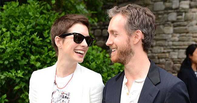 Anne Hathaway of 'Modern Love' Flaunts Baby Bump in Gorgeous White Outfit after Her Baby Shower