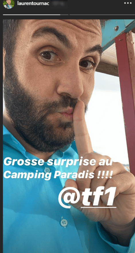 Story de Laurent Ournac annonçant une grosse surprise. | Photo : Instagram Story / Laurent Ournac