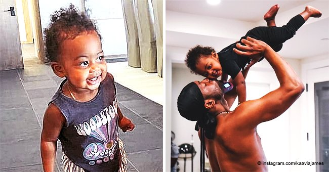 Dwyane Wade Gives Smiling Daughter Kaavia James a Sweet Kiss in Recent Post