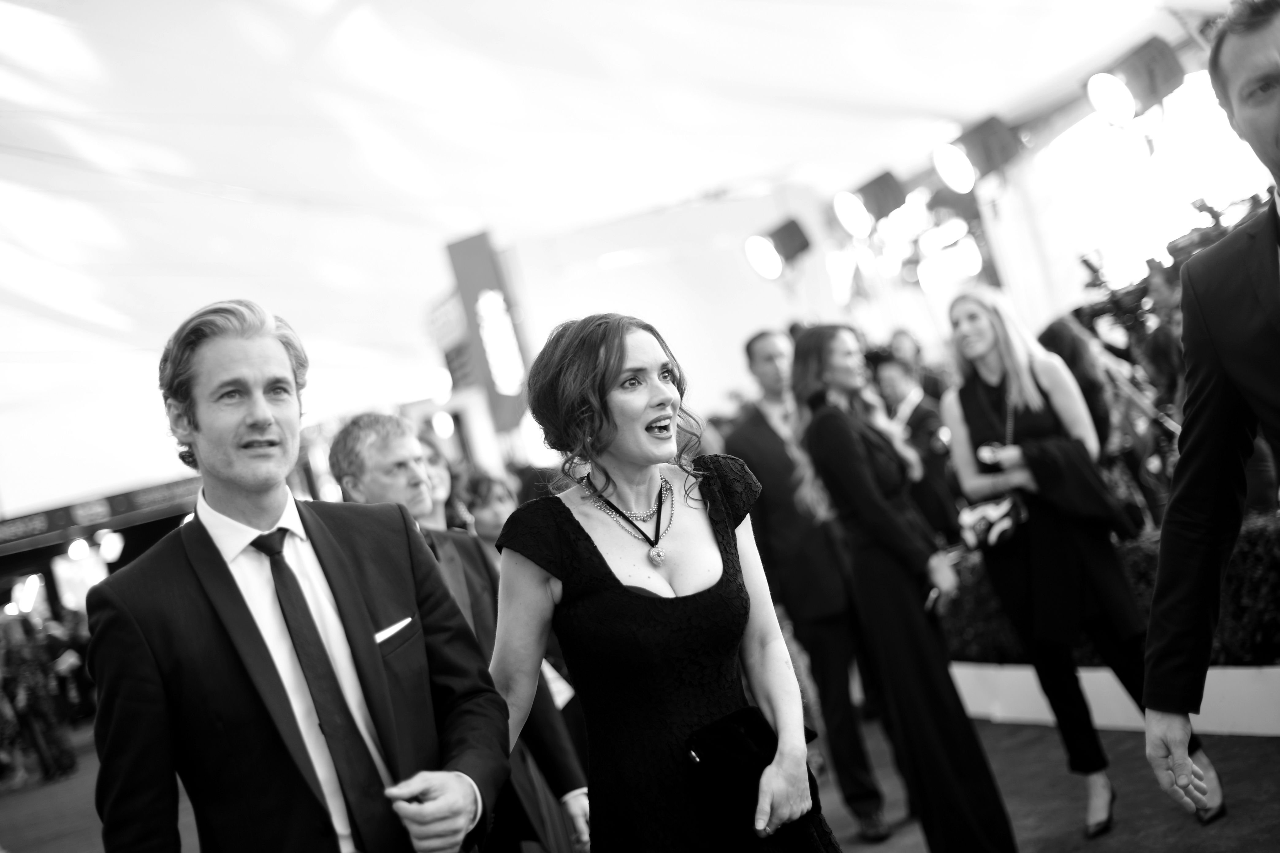 Scott Mackinlay Hahn and Winona Ryder at the 23rd Annual Screen Actors Guild Awards in 2017 in Los Angeles, California | Source: Getty Images