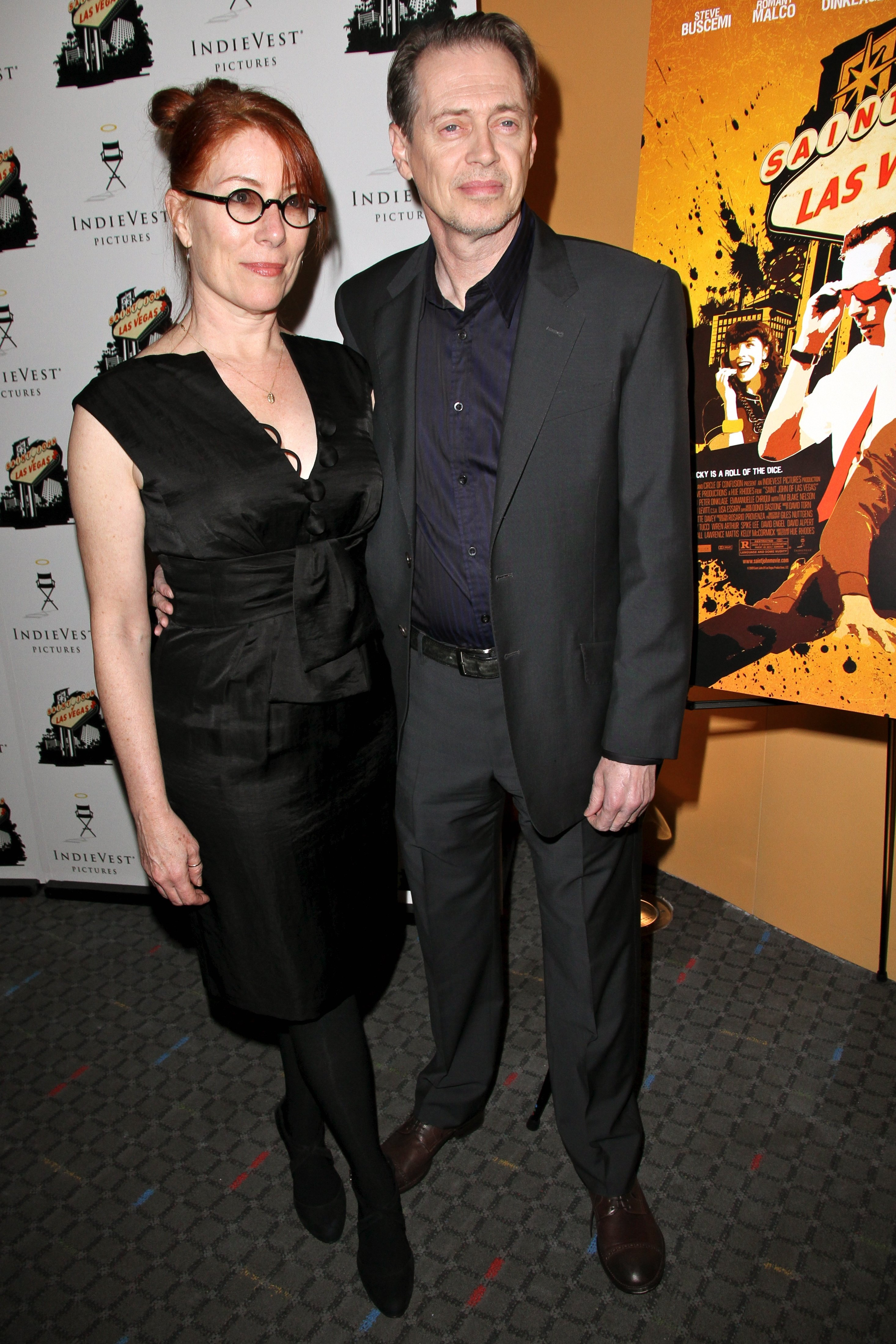 """Steve Buscemi and wife Jo Andres attend the """"Saint John Of Las Vegas"""" New York Premiere on January 16th, 2010 in NYC 