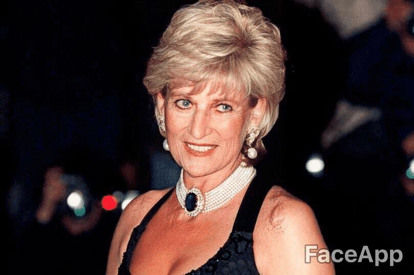 FaceApp Princess Diana