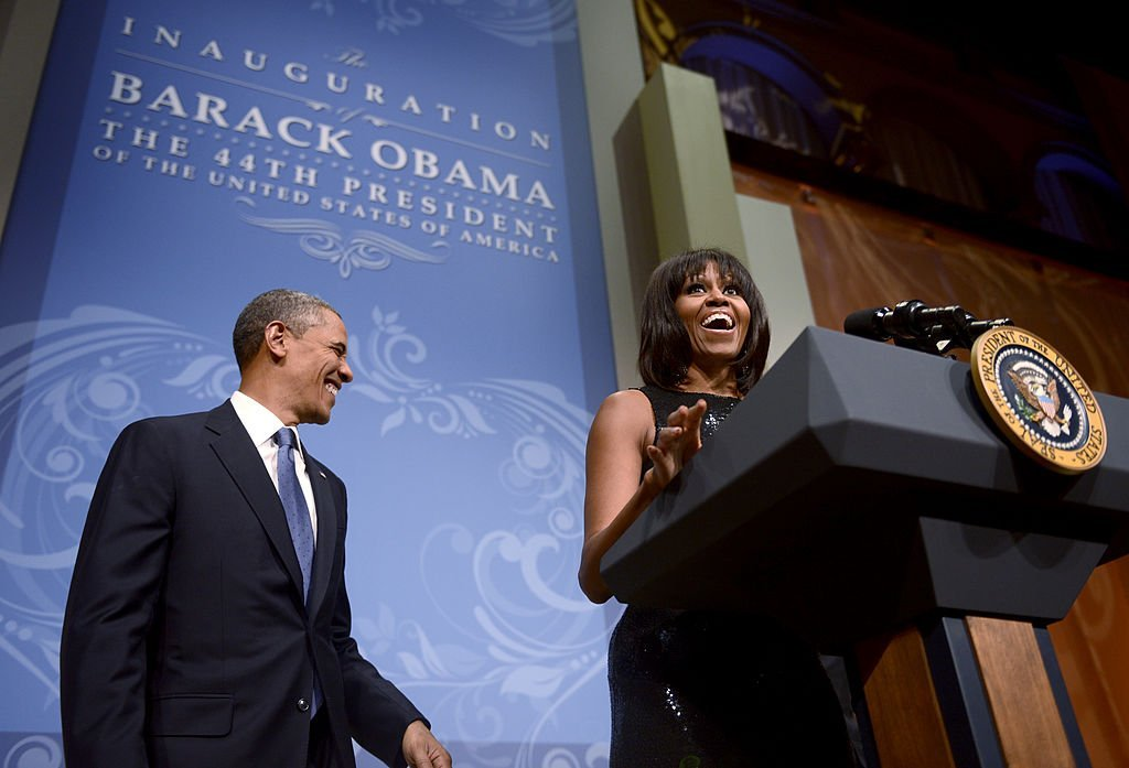 Source: Getty Images / Michelle Obama and Barack Obama at the inaugral reception of the National Building Museum in Washington, DC on January 20, 2013