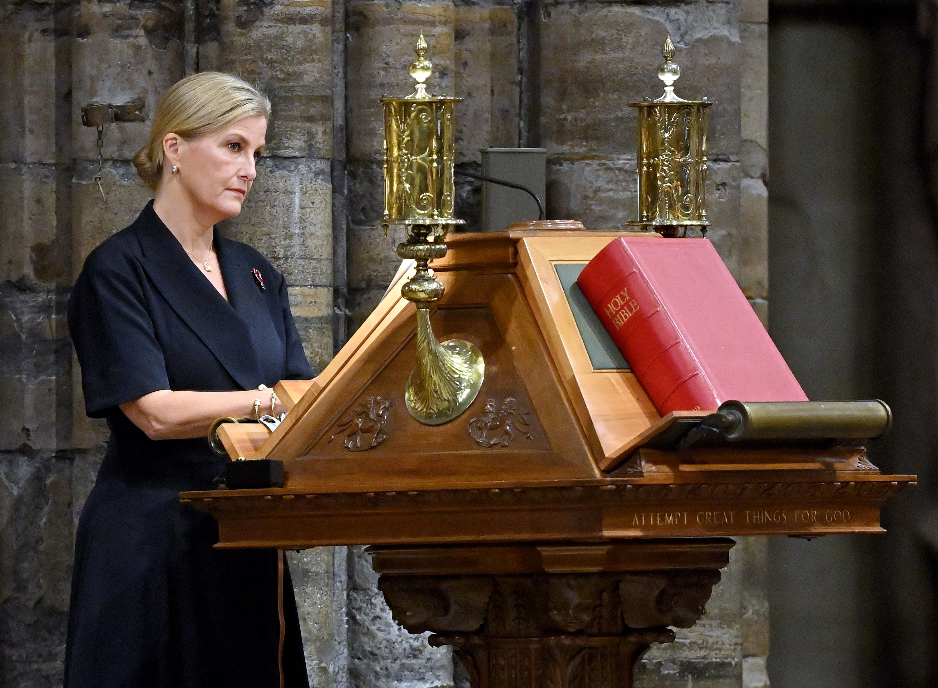 Sophie, Countess of Wessex attends the Sung Eucharist for All Souls' Day service at Westminster Abbey on November 2, 2020   Getty Image