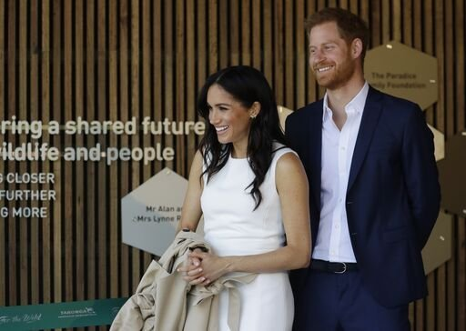 Le Prince Harry, Duc de Sussex et Meghan, Duchesse de Sussex assistent à une cérémonie au Zoo de Taronga le 16 octobre 2018 à Sydney, Australie. | Photo : Getty Images