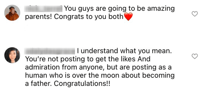 Fan comments from Jacob Roloff's post. | Photo: Instagram/jacobroloff45