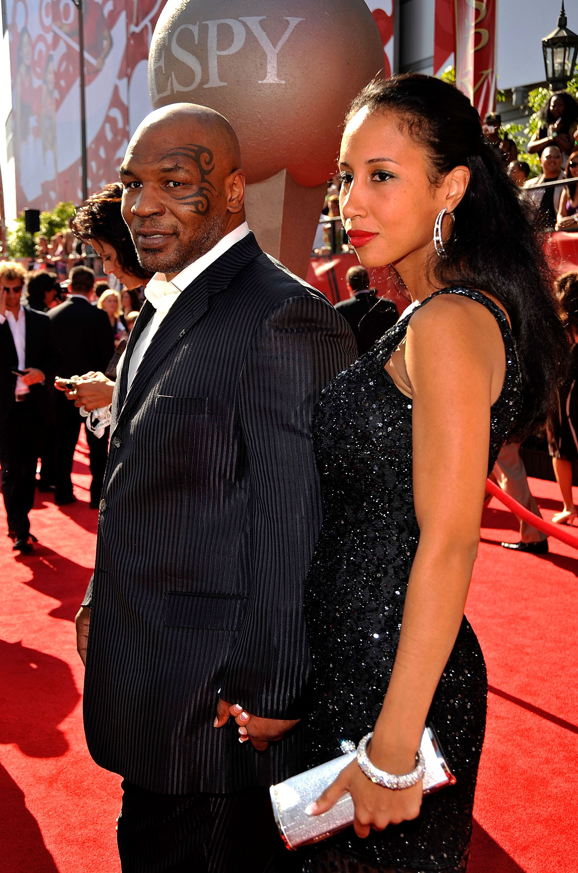 Mike Tyson with ex-wife Monica Turner at the 17th annual ESPY Awards in 2009 | Source: Getty Images