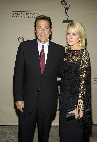 Chuck Woolery and Kim Barnes at the Academy of Television Arts & Sciences in North Hollywood, California in 2005 | Source: Getty Images