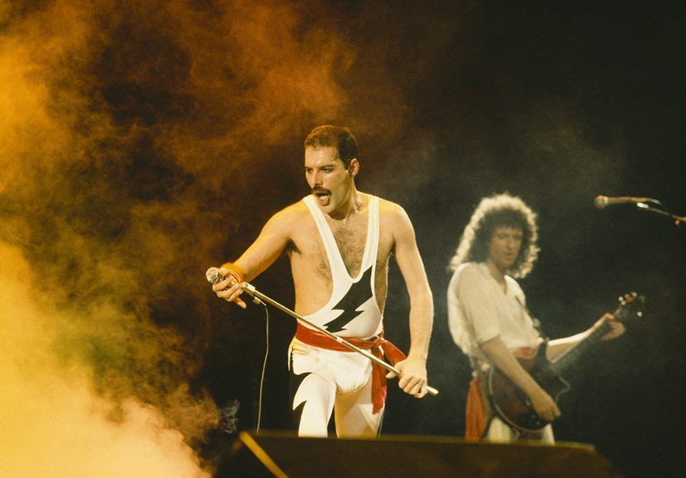 "Freddie Mercury and his ""Queen"" bandmate Brian May. I Image: Getty Images."