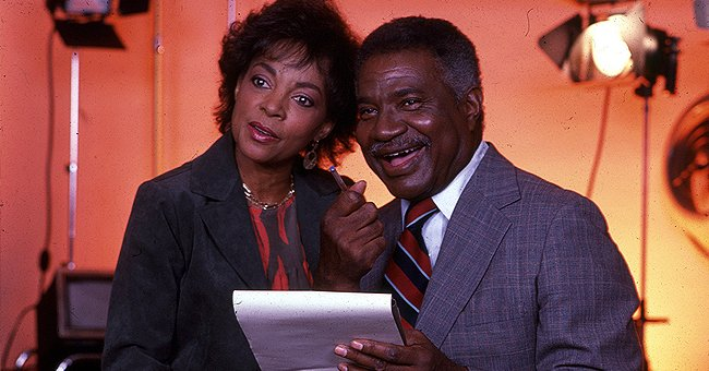 Ossie Davis and Ruby Dee in a recording studio in New York, 1990s | Photo: Getty Images