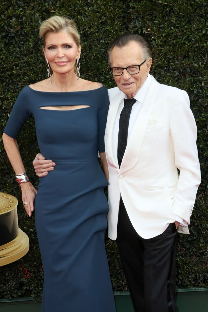 Shawn King and Larry King attend the 45th annual Daytime Emmy Awards at Pasadena Civic Auditorium on April 29, 2018 in Pasadena, California | Photo: Getty Images