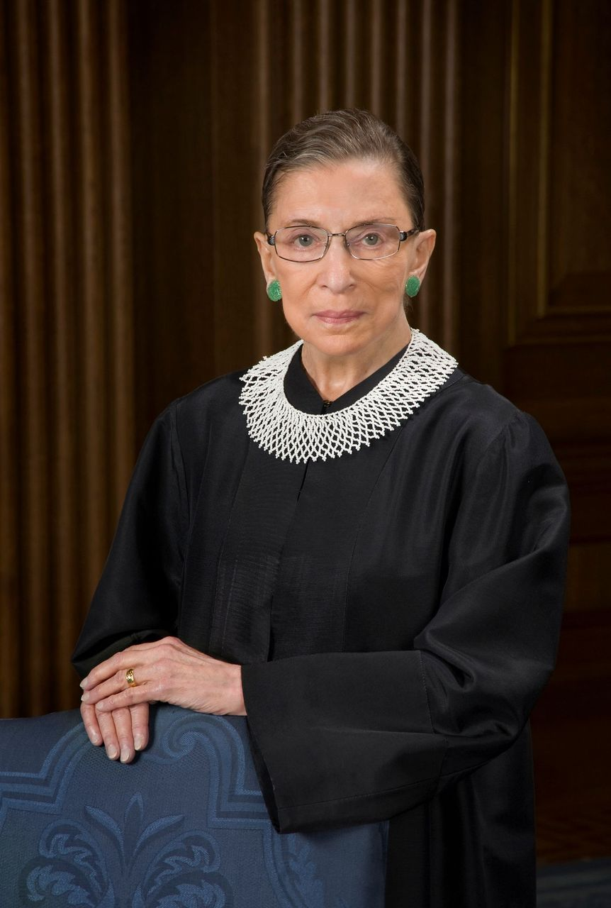 Supreme Court Justice Ruth Bader Ginsburg's official portrait for The Supreme Court. | Source: Getty Images