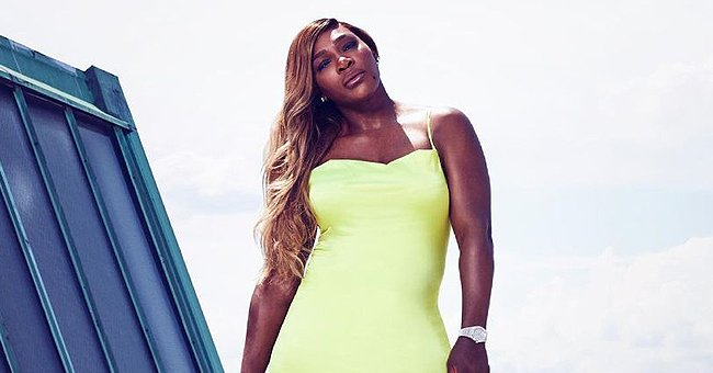 Serena Williams Poses in a $119 Neon Dress That Underlines Her Assets in New Photo