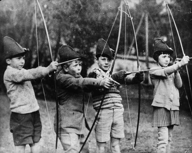 Young Prince Philip, Duke of Edinburgh, with his schoolmates in St-Cloud, Paris, circa 1929 | Photo: Getty Images