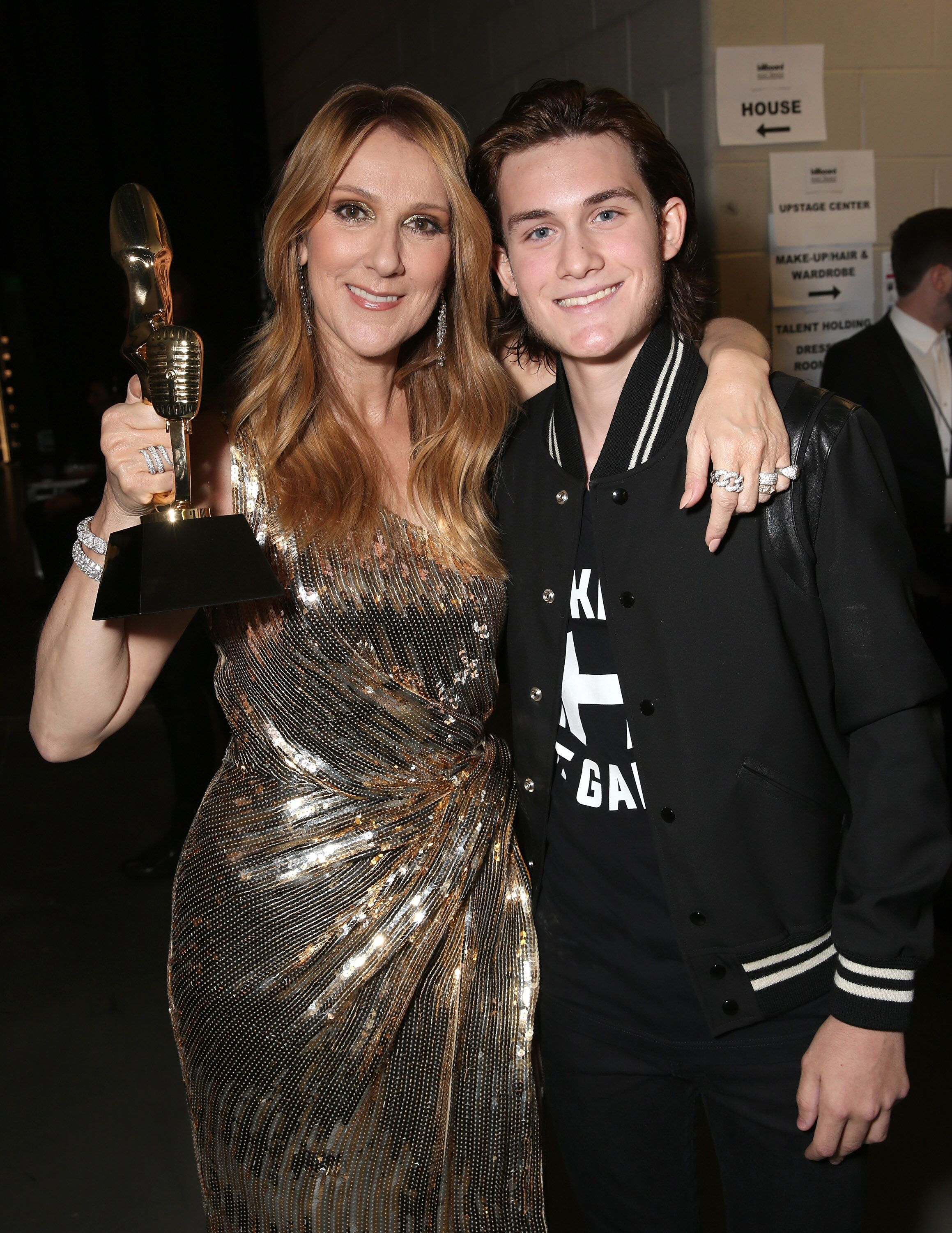 Céline Dion et son fils René-Charles. l Source : Getty Images