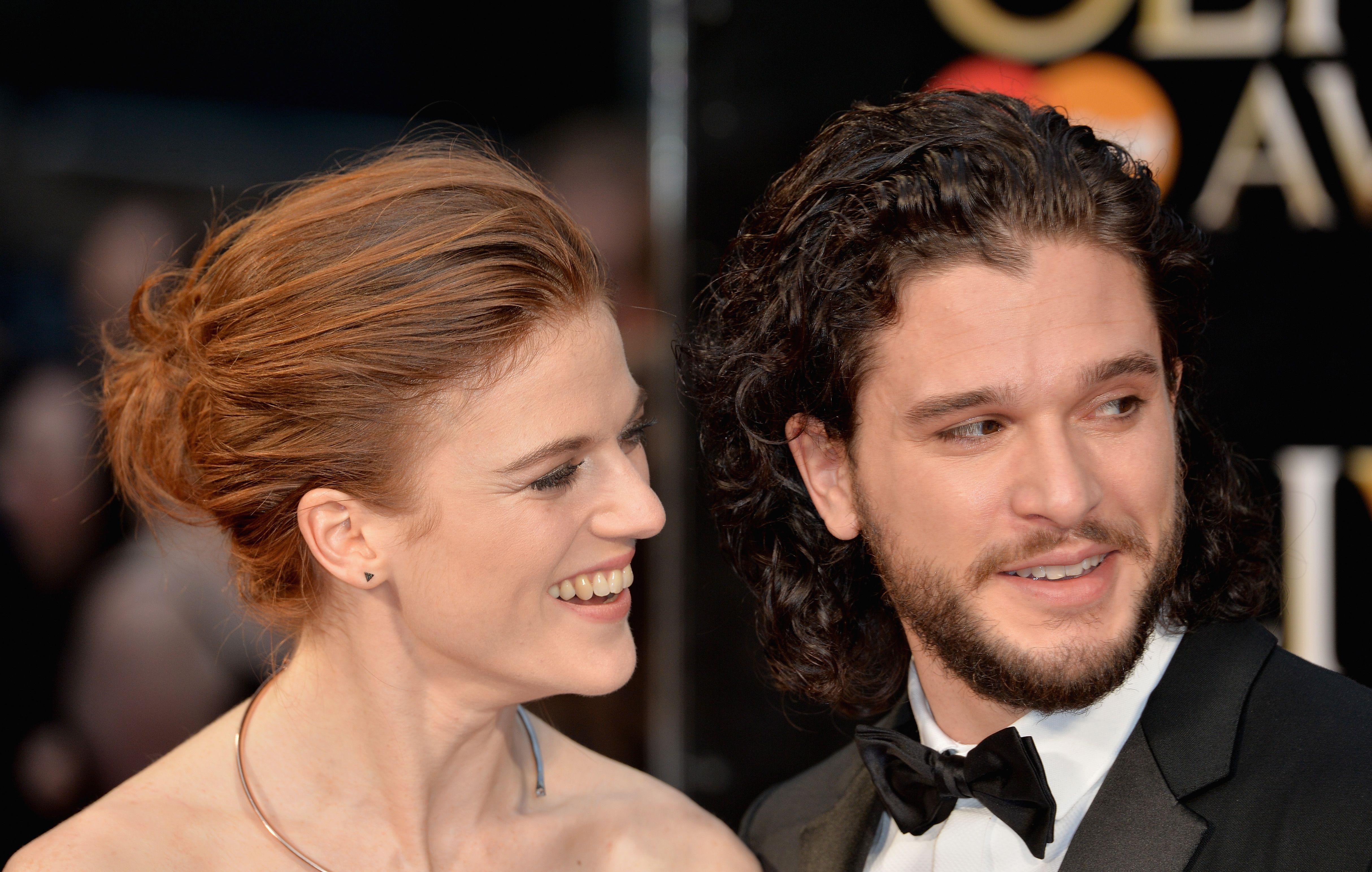 Rose Leslie and Kit Harington at the Olivier Awards with Mastercard at The Royal Opera House on April 3, 2016 | Photo: Getty Images