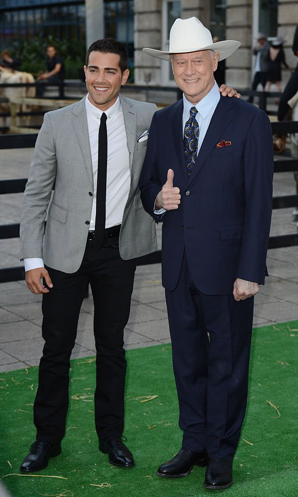 Jesse Metcalf and Larry Hagman attend the launch party of Dallas at Old Billingsgate. | Getty Images