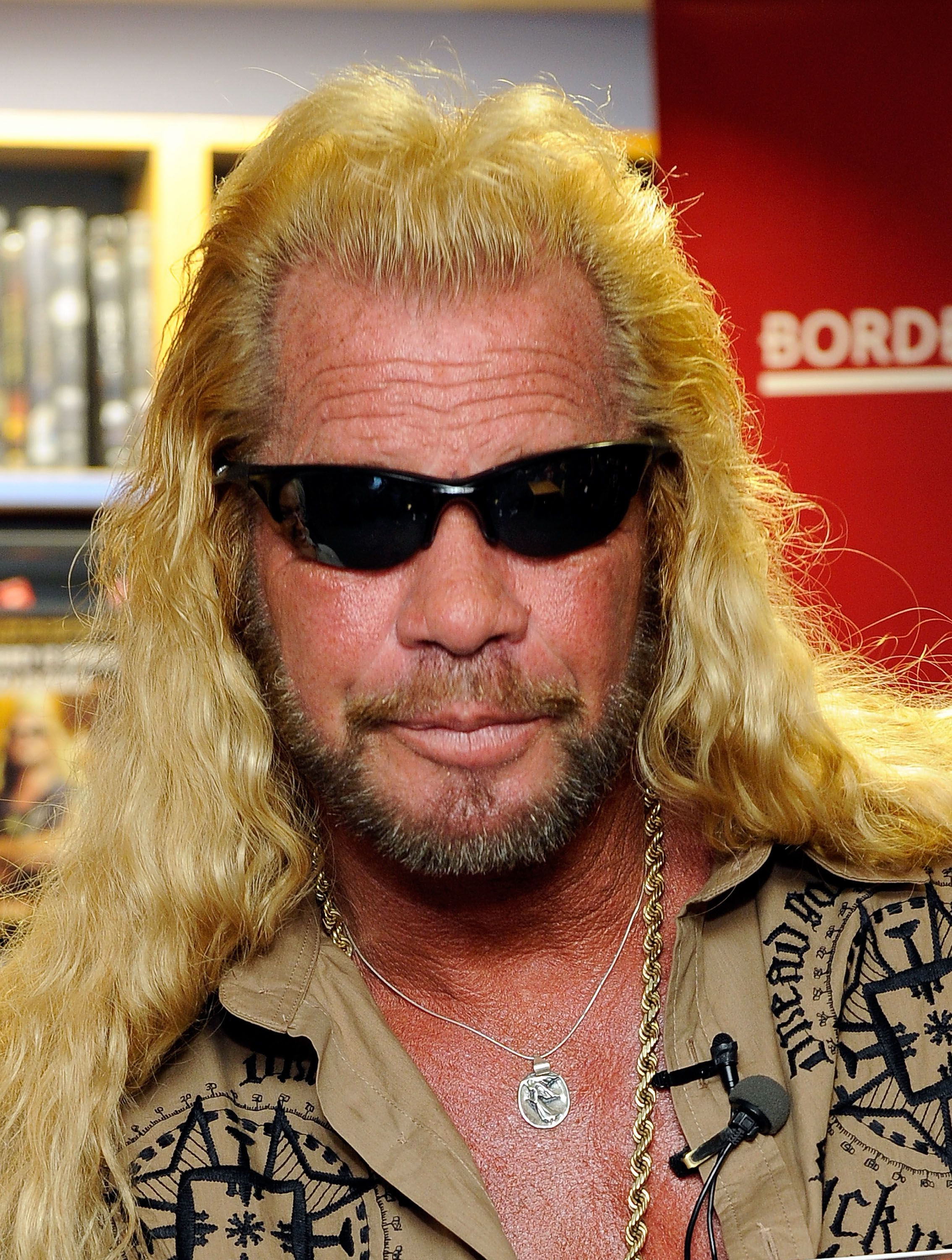"""Duane Chapman, known in the media as """"Dog the Bounty Hunter"""" promotes his book """"When Mercy Is Shown, Mercy Is Given"""" at Borders Wall Street on March 19, 2010 in New York City. 