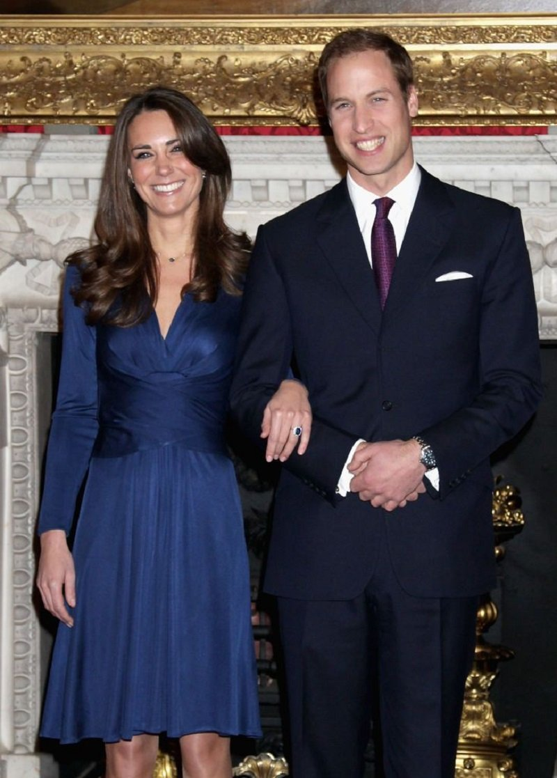 Prince William and Kate Middleton posing for photographs in the State Apartments of St James Palace in London, England in November 2010.   Image: Getty Images.