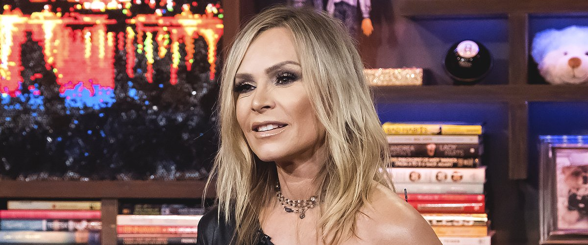 """Tamra Judge during an interview on """"Watch What Happens Live"""" with Andy Cohen on October 08, 2018 
