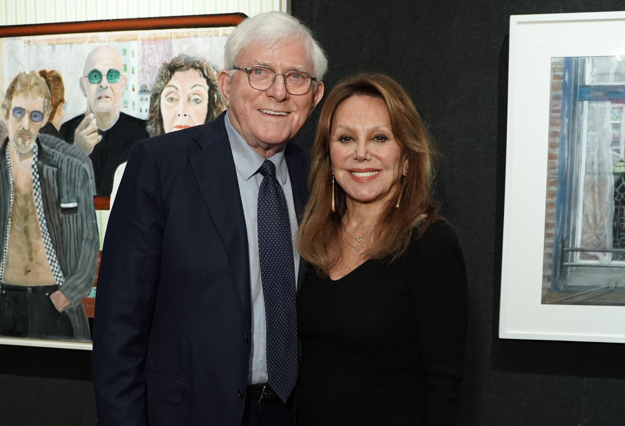 Phil Donahue and Marlo Thomas attend Joseph Fioretti exhibition at The National Arts Club | Getty Images