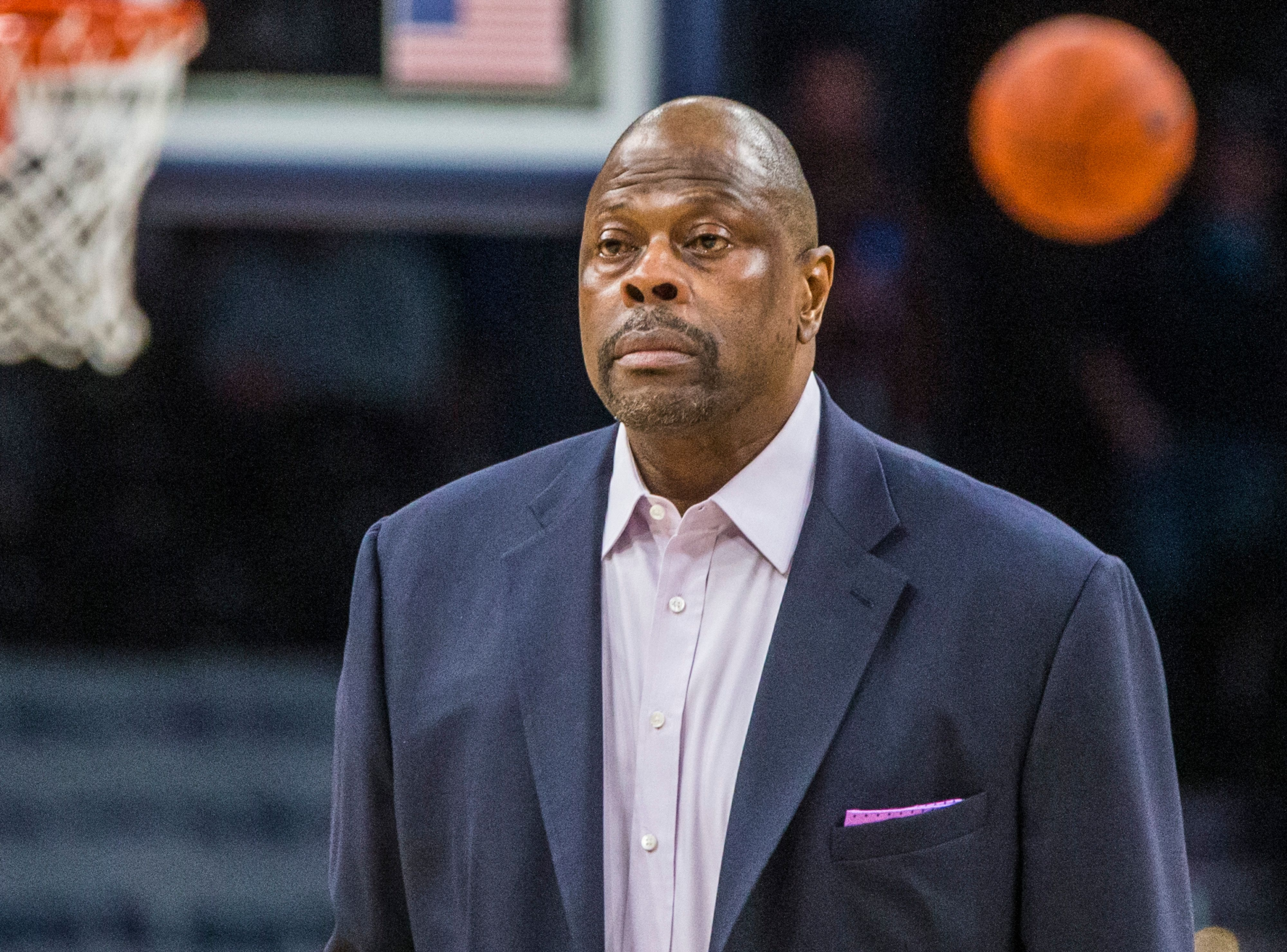 Head Coach Patrick Ewing from Georgetown University during a game between Butler and Georgetown at Capital One Arena in Washington, DC. | Photo: Tony Quinn/ISI Photos/Getty Images