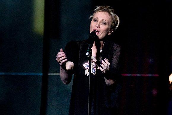 Patricia Kaas lors de son passage à l'Eurovision. l Source: Wikipedia