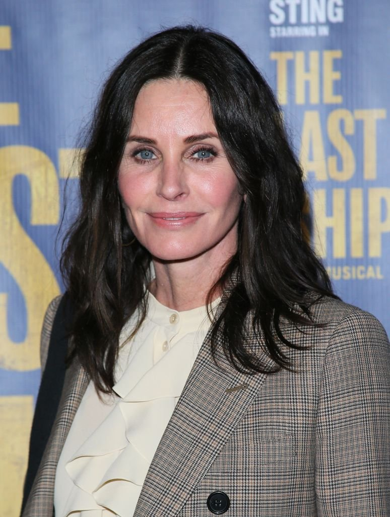 """Courteney Cox at the opening night performance of """"The Last Ship"""" on January 22, 2020 in Los Angeles, California. 