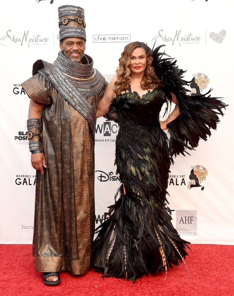 Tina & Richard Lawson at the WACO Theater Center's 3rd Annual Wearable Art Gala on June 1, 2019, in California. | Photo: Getty Images