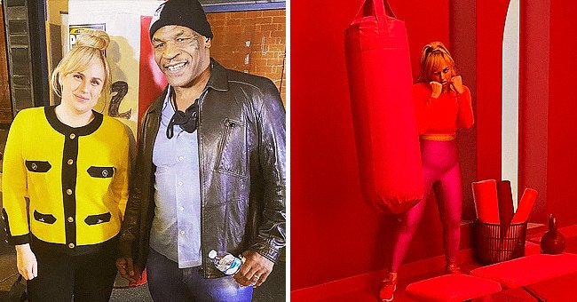 Rebel Wilson Poses with Mike Tyson after Her Recent Photo Shoot Boxing with a Punching Bag