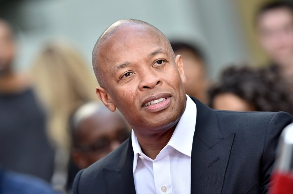 Dr. Dre at the Hand and Footprint Ceremony in Hollywood, California. | Photo: Getty Images.
