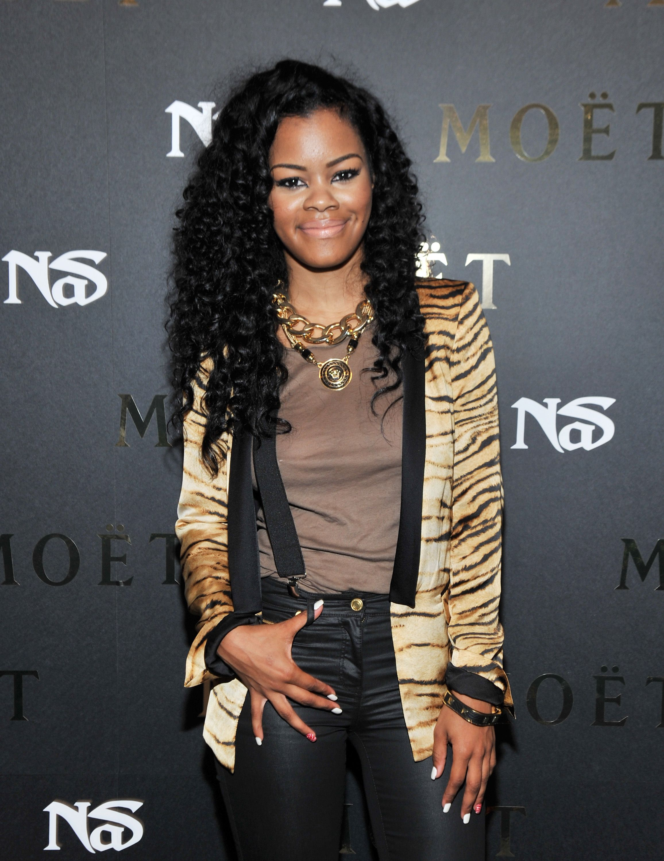 """Teyana Taylor during the """"Moet Rose Lounge Presents Nas' Life Is Good"""" at Bagatelle on July 16, 2012 in New York City. 