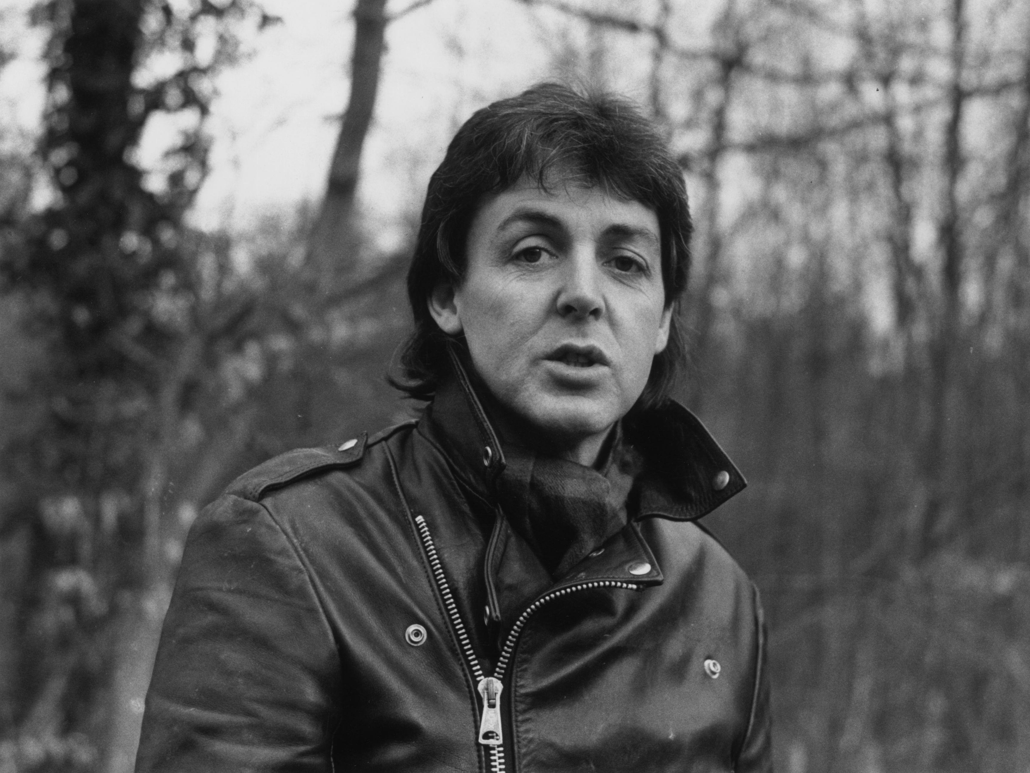Paul McCartney during his 1980 visit on his farm near Sussex.   Photo: Getty Images