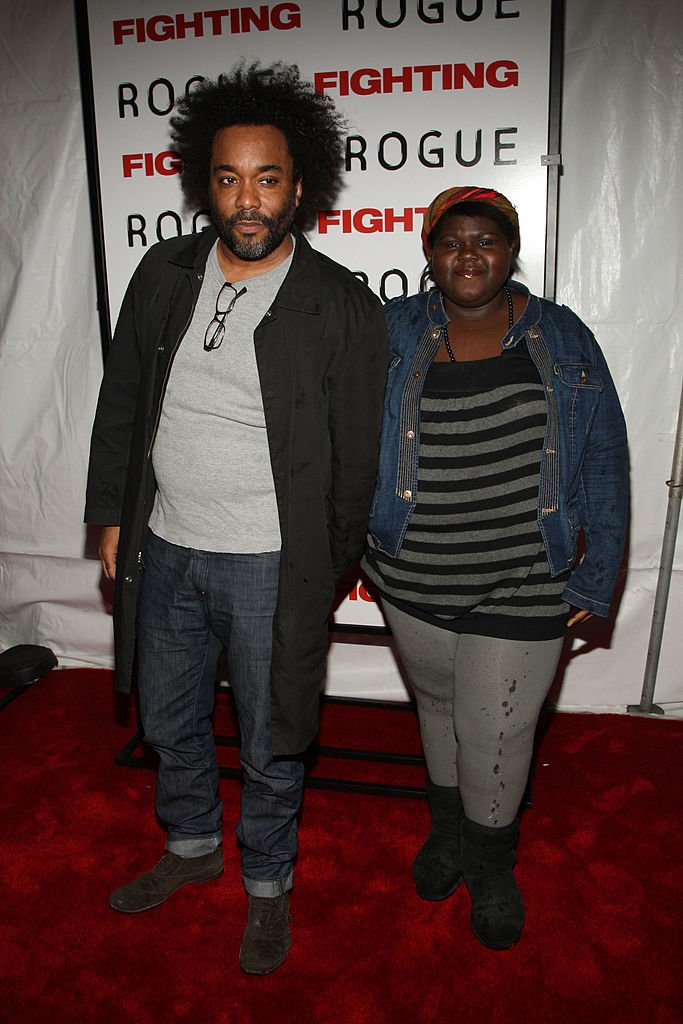 """Director Lee Daniels and actress Gabby Sidibie attend the premiere of """"Fighting"""" in 2009