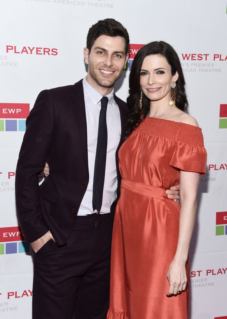 """David Giuntoli and actress Bitsy Tulloch at the East West Players """"The Company We Keep"""" 52nd Anniversary Visionary Awards Fundraiser Dinner and Silent Auction on April 30, 2018 
