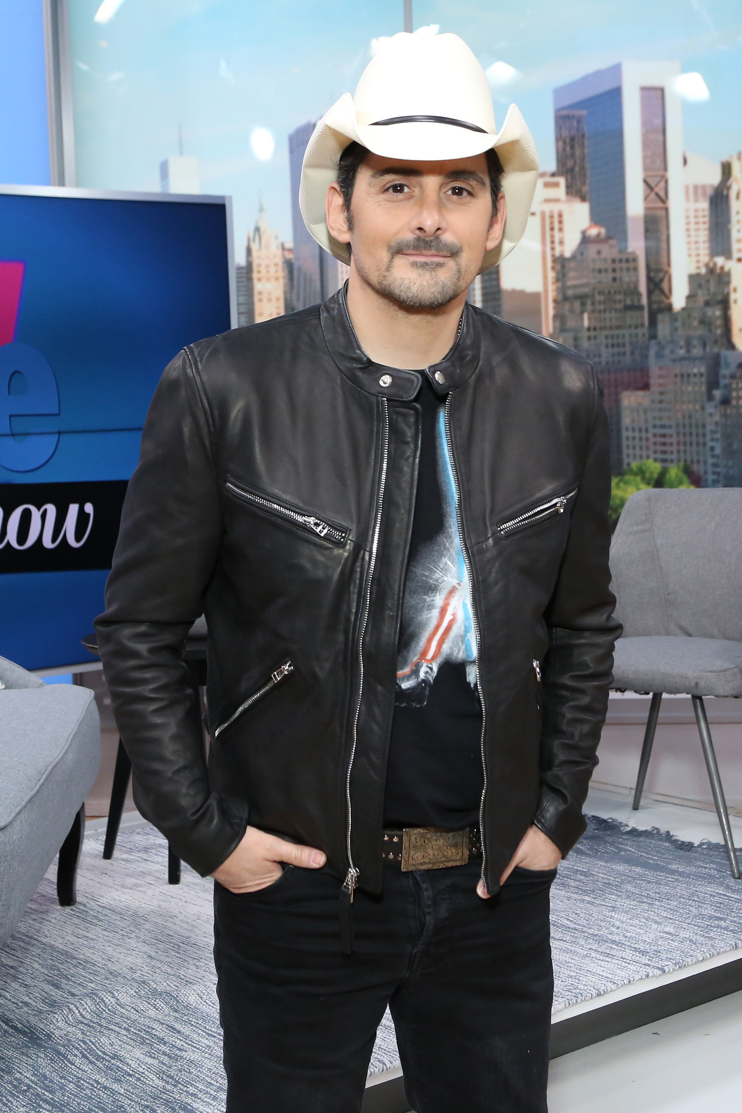 Brad Paisley visits People Now on November 18, 2019, in New York, United States. | Source: Getty Images